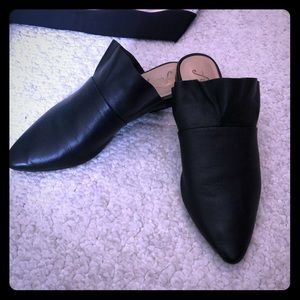 Free People leather mules